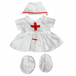 Berefijn - Teddy Mountain - Lier - verpleegsterskapje - verpleegstersjurk - verkleden - pantoffels - build a bear