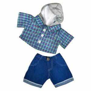 Berefijn - Teddy Mountain - Lier - hoodie - jeans - kleding - skater - stoer - build a bear