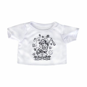 Berefijn - Teddy Mountain - Lier - kleding - t-shirt - blouse - inkleurbaar - textielstift - piraat - piratenboot - schat - build a bear