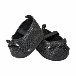 Berefijn - Teddy Mountain - Lier - schoenen - balerina - glitter - zwart - build a bear