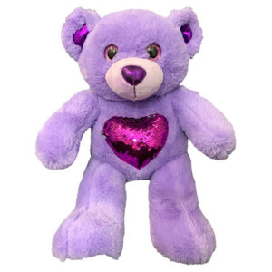 Berefijn knuffeldier Glitz – teddybeer - Teddy Mountain - Lier- hart - glitter - pailletten - build a bear