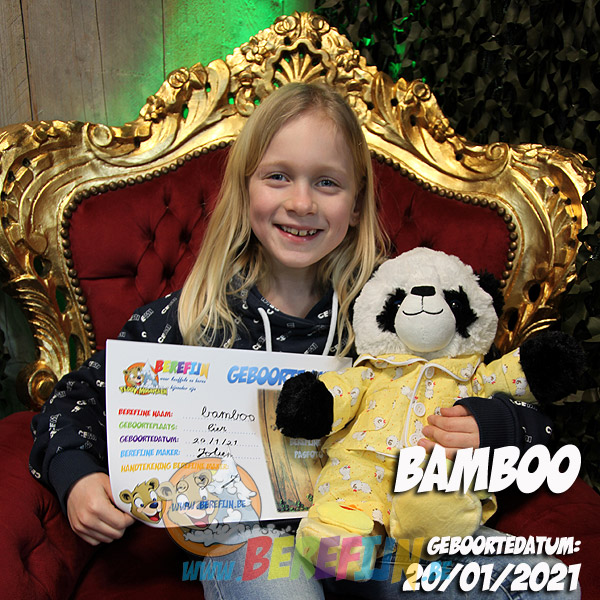 Bamboo – build a bear - teddybeer - Teddy Mountain - Lier - pandabeer - pyjama - kuikentje - slapen