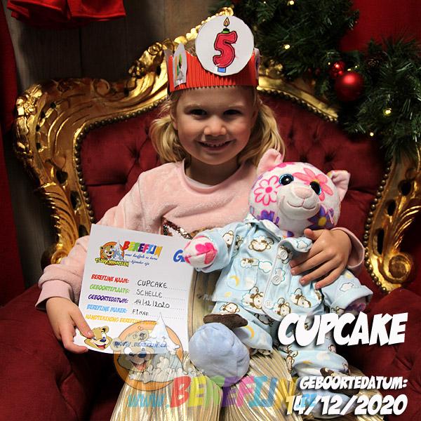 Berefijn knuffeldier Cupcake – teddybeer - Teddy Mountain - Lier- poes - kat - glitter - build a bear - slapen - pantoffels