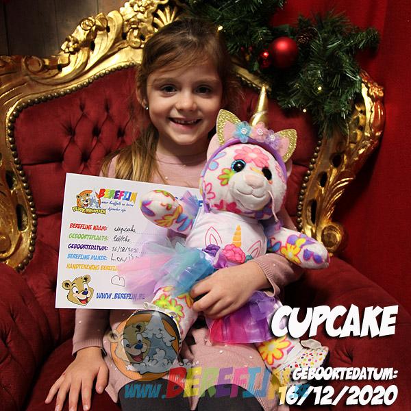 Berefijn knuffeldier Cupcake – teddybeer - Teddy Mountain - Lier- poes - kat - glitter - build a bear - unicorn - eenhoorn