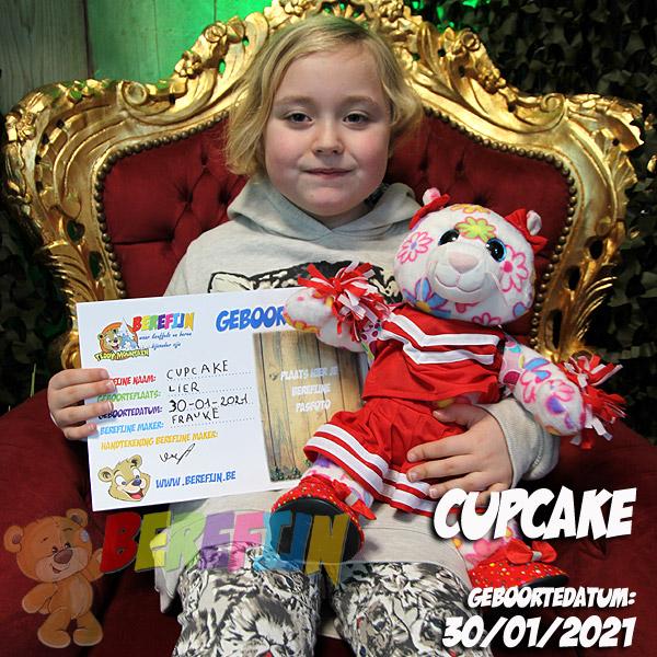 Berefijn knuffeldier Cupcake – teddybeer - Teddy Mountain - Lier- poes - kat - glitter - build a bear - cheerleader - schoenen hakje