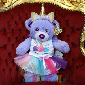 Teddy Mountain - Lier- hart - glitter - pailletten - eenhoorn - kleding - rokje - t-shirt - diadeem - unicorn
