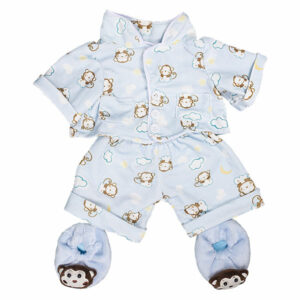 Berefijn - Teddy Mountain - build a bear - Lier - kleding - slapen - pantoffels - aap