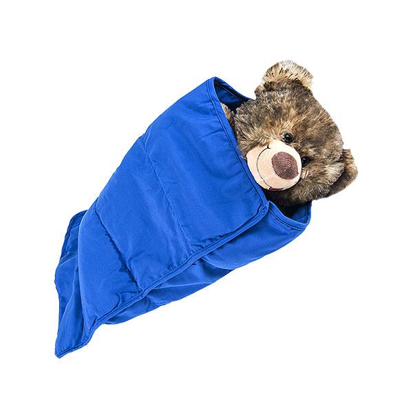 Berefijn - Teddy Mountain - Lier - slaapzak - deken - knuffelbeer - blauw - build a bear
