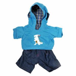Berefijn - Teddy Mountain - Lier - build a bear - hoodie - jeans - dinosaurus - kleding