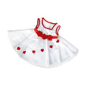 Berefijn - Teddy Mountain - Lier - build a bear - kleedje - jurk - kleding - bloem - rozen - hartjes