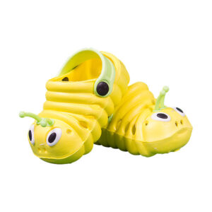 Berefijn - Teddy Mountain - Lier - build a bear - schoenen - sandalen - crocs - geel - insect - pantoffel