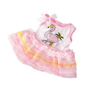 Berefijn - Teddy Mountain - build a bear - Lier - kleding - kleedje - strikje - palmboom - pink - roze