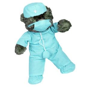 Berefijn - Teddy Mountain - build a bear - Lier - chirurg - mondkapje - hoedje - dokterspak