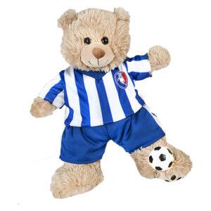 Berefijn - Teddy Mountain - build a bear - Lier - voetballer - soccer - voetbal tenue - mini voetbal