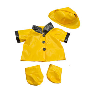 Berefijn - Teddy Mountain - Lier - jas - laarzen - kleding - hoed - build a bear - raincoat - paddington