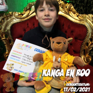 Berefijn knuffeldier Kanga & Roo – teddybeer - Teddy Mountain - Lier - Kangaroe - build a bear - badjas - Winnie the pooh