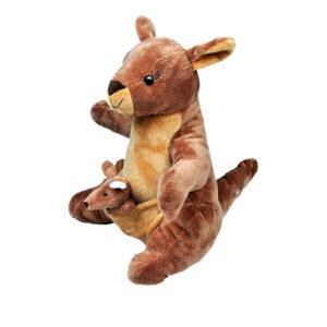 Berefijn knuffeldier Kanga – teddybeer - Teddy Mountain - Lier - Kangaroe - Kleine Roe - Winnie the pooh - vingerpopje - geboorte