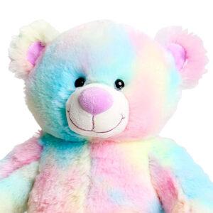 Berefijn knuffeldier Rainbow – teddybeer - Teddy Mountain - Lier - build a bear - Cuddles & Friends - regenboog beer - pastel tint