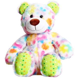 Berefijn knuffeldier Sunshine – teddybeer - Teddy Mountain - Lier - build a bear - Cuddles & Friends - sterren - bloemen