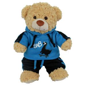 Berefijn - Teddy Mountain - Lier - kleding - cuddles & friends - build a bear - jogging - trainingspak - skater - dinosaurus