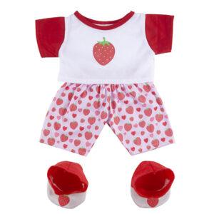 Berefijn - Teddy Mountain - Lier - build a bear - kleding - slapen - pantoffels - strawberry