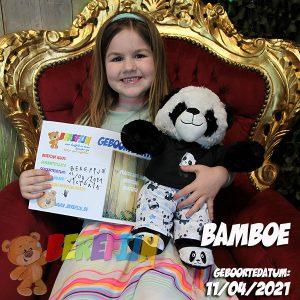 Bamboo – build a bear workshop - teddybeer - Teddy Mountain - Lier - pandabeer - cuddles & friends - pyjama - pantoffels - DIY