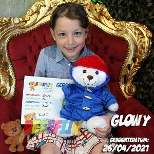 Berefijn knuffeldier Glowy – teddybeer - Teddy Mountain - Lier - build a bear - Cuddles & Friends - glow in the dark - paddington