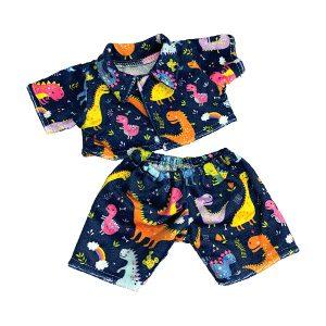 Berefijn - Teddy Mountain - Lier - build a bear workshop - Meisje Djamila - cuddles - teddybear - pyjama - dinosaurussen