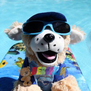 Berefijn knuffeldier Goldie – teddybeer - Teddy Mountain - Lier - hond - Golden Retriever - build a bear - zwembad - zonnebril